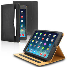 BLACK STAND SMART LEATHER CASE COVER CARD HOLDER APPLE IPAD 2 3 4 AIR PRO MINI