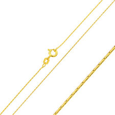 Pure 0.65mm 925 Sterling Silver Chain Necklace / Gold Plated made in italy