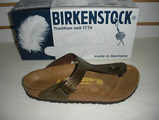 WOMENS BIRKENSTOCK GIZEH THONG SANDALS - BIRKO-FLOR-GOLDEN BROWN -0143941-NEW