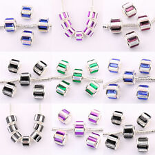 5/20Pcs Copper Czech Rhinestone LAMPWORK Fit European Loose Spacer Beads 11x10mm