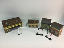 Job Lot of Hornby Buildings - Goods Shed, Signal Box, 2x Water Towers