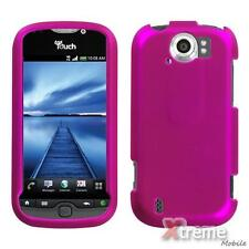 XM-T-Mobile HTC myTouch 4G Slide Snap On Case Cover Rubberized Titanium Hot Pink