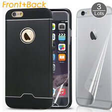 3x Front+Back HD Clear Film Screen Guard & Hard Case Cover for iPhone 6 6S Plus