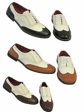 Vintage 1920's 30's 40's mens Two Tone Wing tip Spectator Jazz Gatsby Brogues