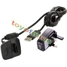 New USB Power Adapter Charging Cable + UK Plug Socket Charger for Gamepad
