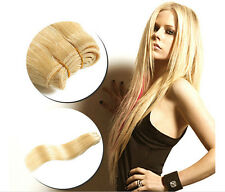 1 Bundle 100% Virgin Hair Brazilian Human Hair Extensions Weft Blonde #613 Hair