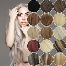 """16"""" Fashion Clips in Remy Real Human Hair Extensions 7pcs/set Straight"""