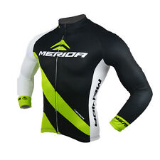Merida Bike Jersey Long Sleeve Winter Mens Cycling Shirts Reflective Bicycle Top