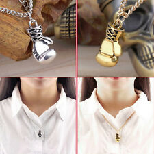 Fashion Men's Women's Stainless Steel Boxing Glove Pendant Necklace Chain SE