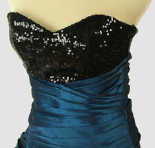 WINDSOR $90 Black/Teal Junior Homecoming Evening Cocktail NWT - Size 5
