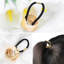 Girls Hair Band Metal Hair Cuff Wrap Pony Tail Holder Ring Rope Circle HOT PY