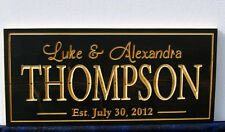 Personalized Carved Wooden Wedding-Family-Last Name-Anniversary Sign 9 X 21 INCH