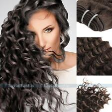 "100g #4 Remy Brazilian Deep Wave Curly Wavy Human Hair Extensions Weft 14""-24"""