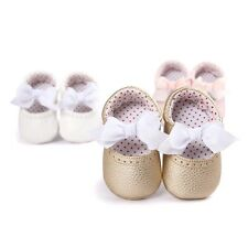 Lovely Bow Glitter Baby Girls Toddlers Infant Festival Gift Soft Bowknot Shoes