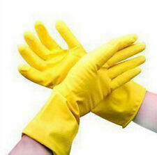 Gloves Waterproof Dishwashing Yellow Laundry Clean Protective Orange Rubber