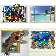 Dinosaurs The Avengers Decals Wallpaper Removable Child Room Stickers Wall Decor