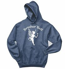 Drinker Bell Funny Party Alcohol Crewneck Hooded Sweatshirt  Holiday Gift Hoodie