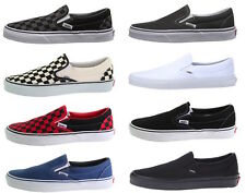 Vans Classic Slip-On Shoe, Black, Grey, True White, Navy Blue, Checkered colors