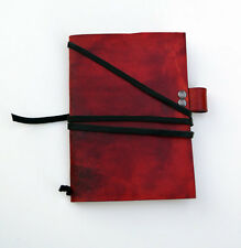 Handmade Leather Notebook Cover With Attached Pen Holder & Midori Passport Paper