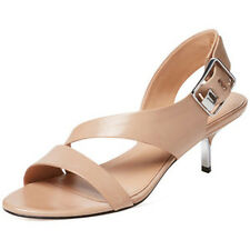 Sigerson Morrison Womens Seley Nude Leather Slingback Sandals