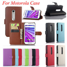 Luxury Magnetic Flip Cover Stand Wallet Leather Case Skin For Motorola Phones