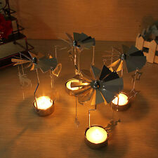 Rotary Spinning Carousel Tea Light Christmas Candle Holder Xmas Table Art Design