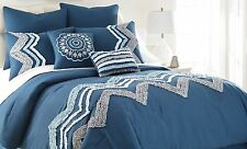 NEW 8 Piece Embellished Comforter Set Full of Bold & Vibrant Colors Sweet Dreams