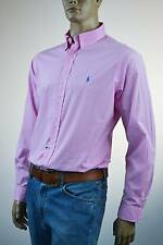 Ralph Lauren Classic Fit Pink & White Check Long Sleeve Shirt /Blue Pony- NWT