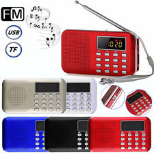Mini Portable LCD Digital FM Radio Speaker USB Micro TF Card Mp3 Music Player P