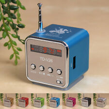 Portable Micro SD TF USB Mini Stereo Speaker Music Player FM Radio F/ PC MP3 /4