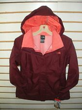 THE NORTH FACE WOMENS RESOLVE WATERPROOF JACKET -AQBJ-DEEP GARNET RED - S,M,L,XL