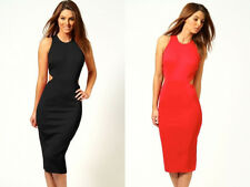 Sexy Womens Lady Dress Club Wear Casual Criss Cross Open Back Back Red A70A71