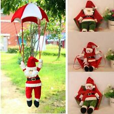 Christmas Tree Hanging Decoration Parachute Santa Snowman Claus Xmas Ornaments
