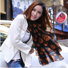HOT New Women Girl Long Soft Silk Chiffon Wrap Shawl Scarves Colorful 160x42cm