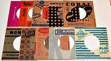 Original Record Sleeves 1950's - 45rpm - KING-MODERN-KAPP-LIBERTY -Lot Of 10