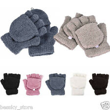 Womens Girls Gloves Hand Wrist Warmer Winter Fingerless Working Gloves Mittens