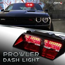 Emergency LED Dash Light - Red With Strobe Flashing Warning Safety 18 Modes
