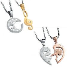 Men Women Lover Couple Necklace I Love You Heart Pendant Stainless Steel  """"