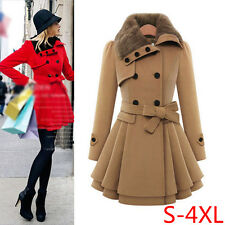Fashion New Women Winter Long Jacket Thick Parka Overcoat Slim Outerwear Trench