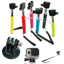 Extendable Handheld Monopod + Tripod Mount Adapter for GoPro HD Hero 2 3 Camera
