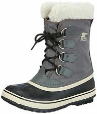 New Sorel Boots Winter Carnival Womens Waterproof Boots Shoes Pewter