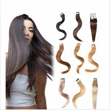 20 pcs 100% Remy PU Hair Tape in Human Hair Extensions 16''18''20''22''24''
