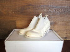 GUIDI E96W HORSE LEATHER ELASTIC ANKLE BOOTS *NEW* $1275 HARNDEN (WHITE 36 38.5)