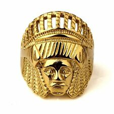 Hip-Hop Fashion Indian Chief Men Big Round jewelry Ring Size 7 8 9 10 11 12