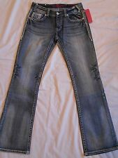 Rock & Roll Cowgirl NWOT Juniors Jeans Bootcut Mid Rise W1-7647 Rodeo Bling