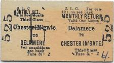 CLC Railway ticket : Delamere - Chester (Northgate)