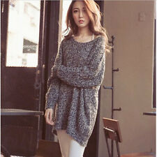 Womens Knitted Sweater Batwing Sleeve Loose Outwear Coat Cardigan Oversize Tops