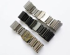 Stainless Steel Thick Mesh Watch Strap Band For Moto 360 2nd Gen Mens 42MM 46MM