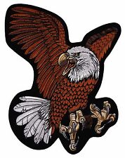 """Flying Screaming Eagle Patch Embroidered Motorcycle Rider Biker Jacket Large 12"""""""