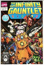 INFINITY GAUNTLET #1  NM-  9.2   Key Thanos!  AVENGERS INFINITY WAR!  Hot!  1991